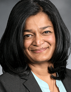 Turn on images to see Pramila Jayapal.