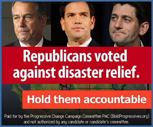 Republicans voted against disaster relief