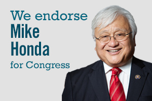 Sign up to endorse Mike Honda for Congress