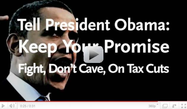 New progressive ad pressure Obama