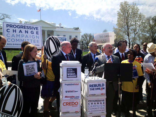 Rep. Marc Pocan speaks out against Chained CPI in the president's budget.