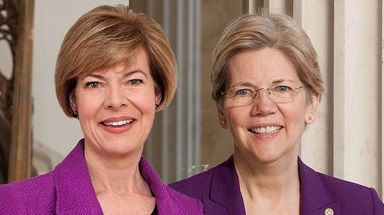Turn on images to see Tammy Baldwin and Elizabeth Warren.