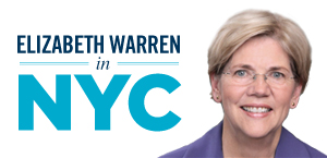 Elizabeth Warren is coming to NYC!