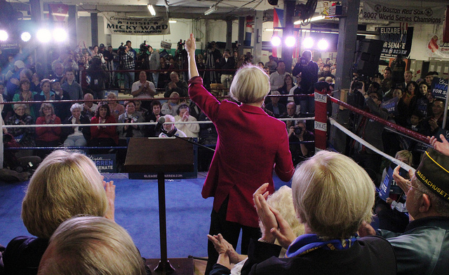 Enable images to see Elizabeth Warren in a boxing ring