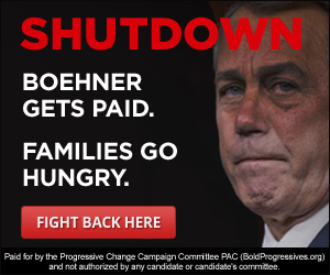 SHUTDOWN: Boehner gets paid. Families go hungry.