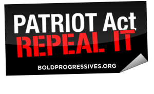 patriot act sticker