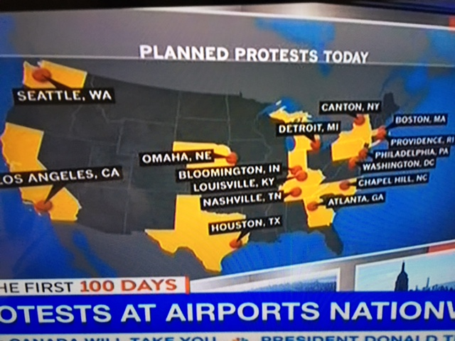 Turn on images to see the map of airport protests