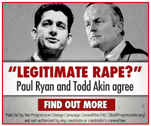 Paul Ryan and Todd Akin wrote the bill to redefine rape