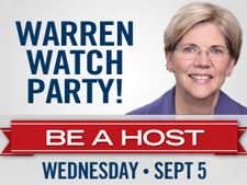Watch Warren make history - attend a house party