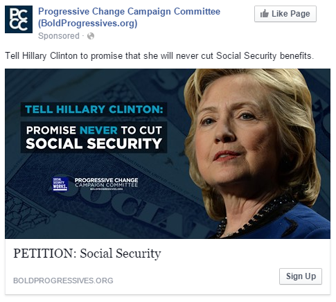 HRC-social security-online ad