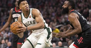Giannis James Harden Bucks Rockets NBA MVP