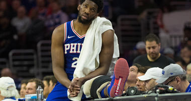Joel Embiid Sixers Nets NBA Playoffs