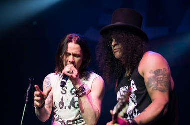 Myles Kennedy and Slash perform