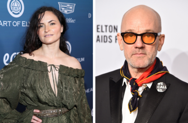 Rain Phoenix and Michael Stipe