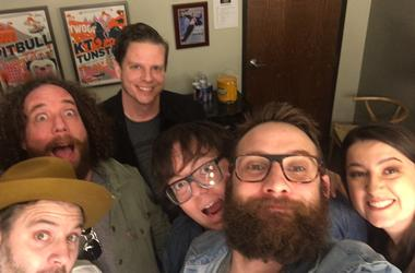 The Strumbellas take a selfie before talking about their latest single, Young and Wild.