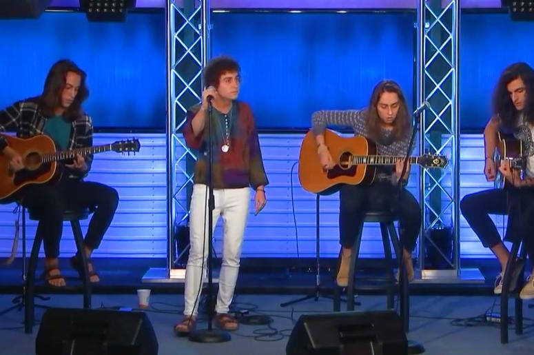 Greta Van Fleet perform in the radio.com studio