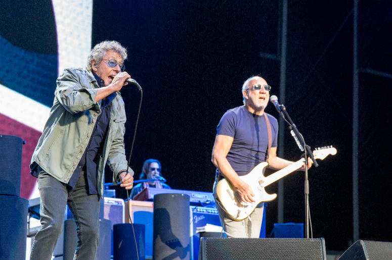 Roger Daltrey and Pete Townshend of The Who during Outside Lands Music Festival at Golden Gate Park on August 13, 2017