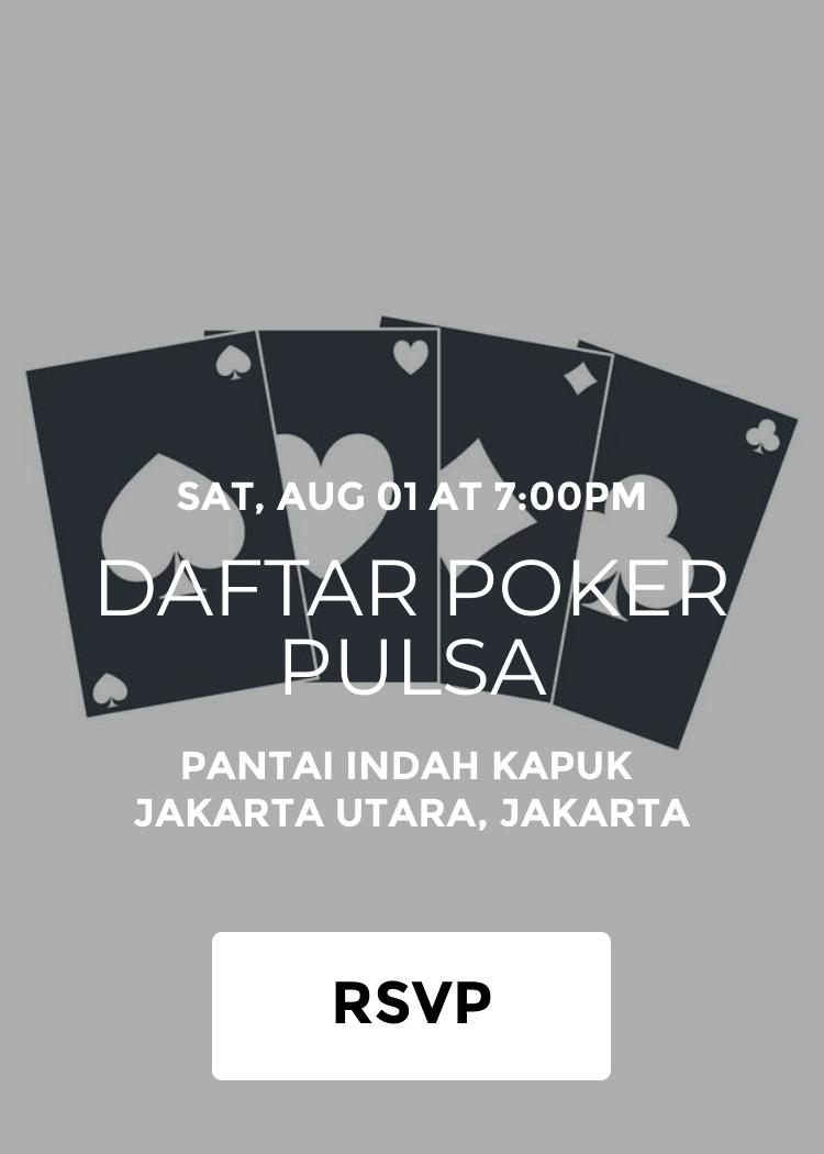 Daftar Poker Pulsa Splash