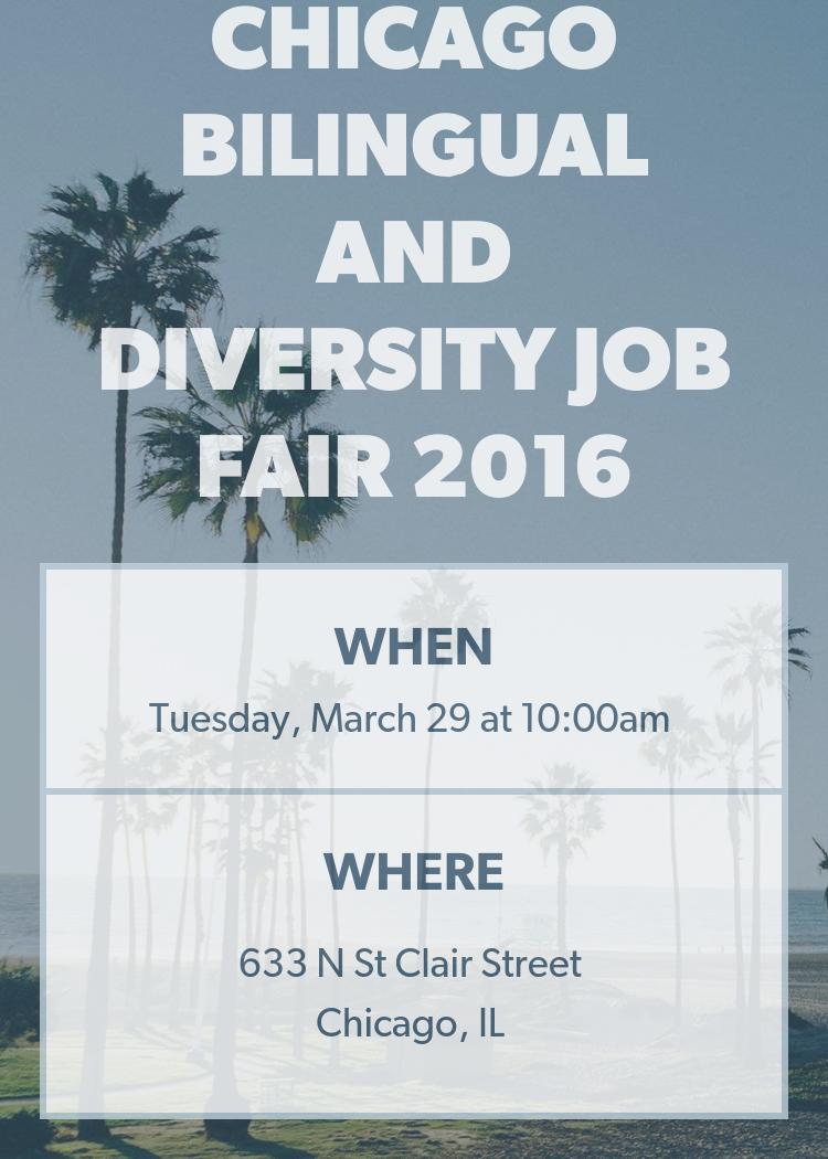 chicago bilingual and diversity job fair 2016
