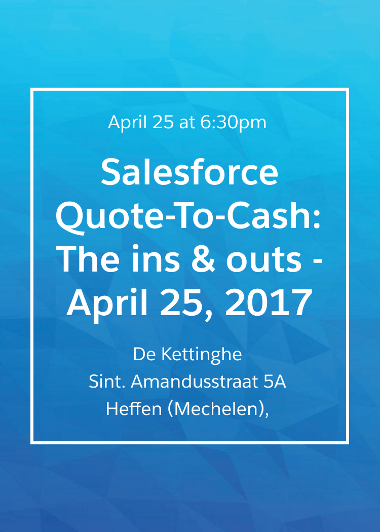 Quote To Cash Salesforce Quotetocash The Ins & Outs  April 25 2017
