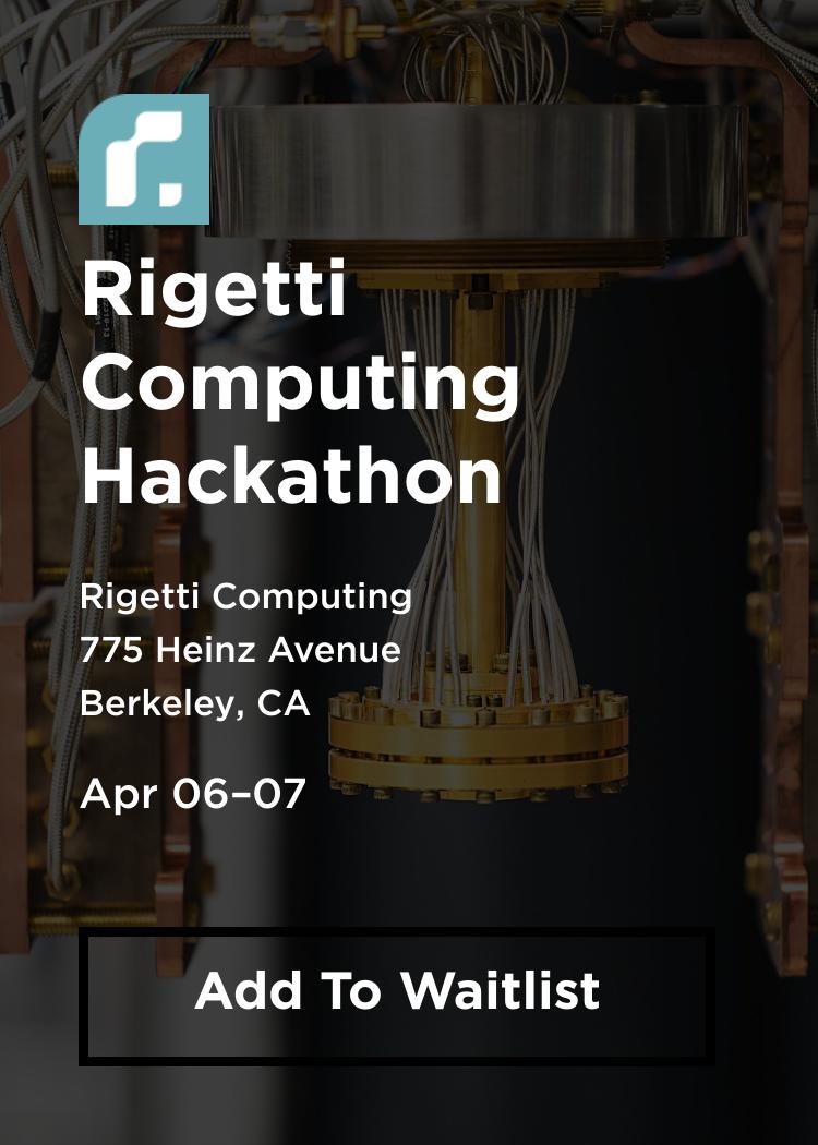 Rigetti Computing Hackathon - Splash