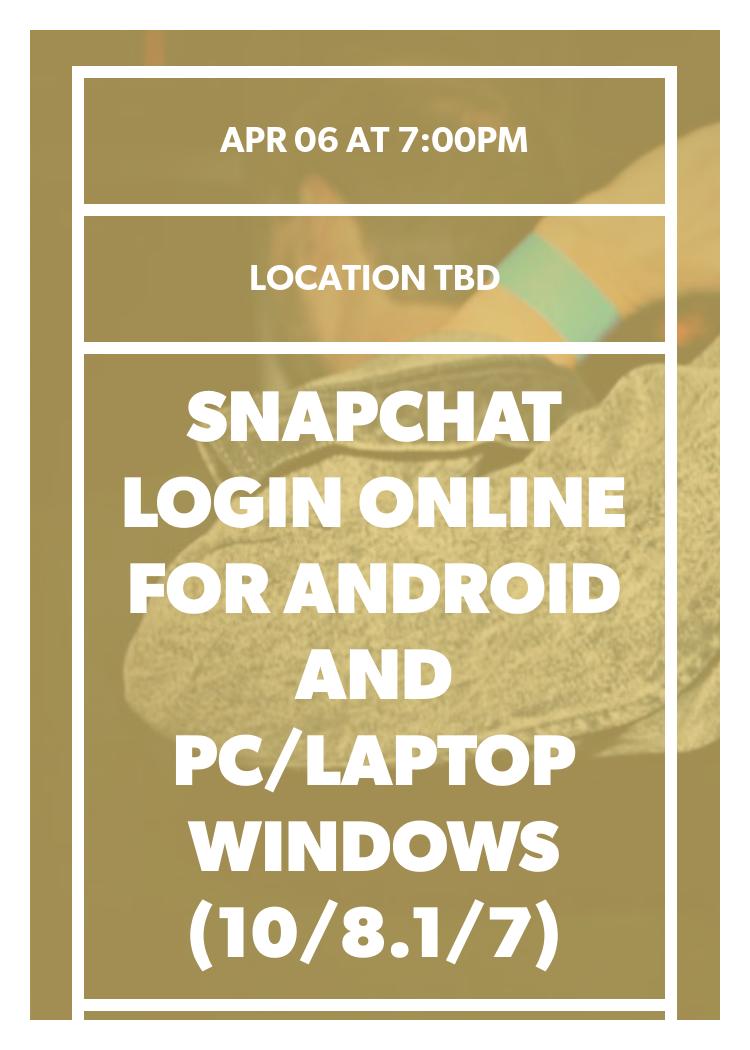 snapchat log in online