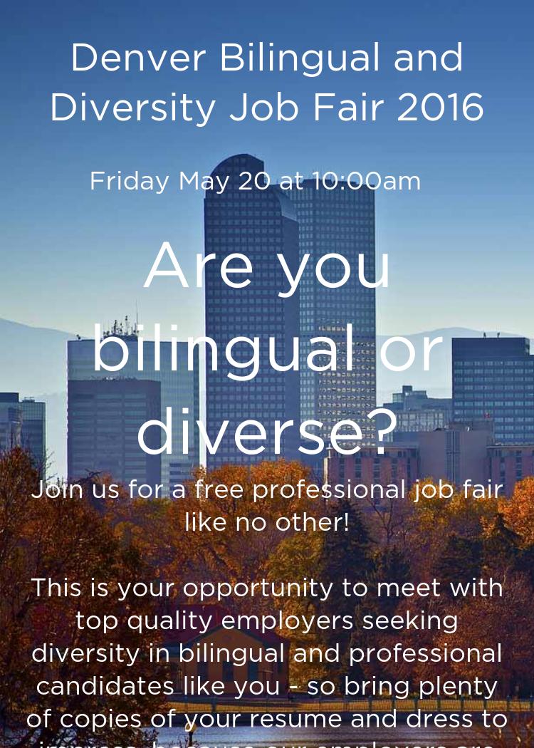denver bilingual and diversity job fair