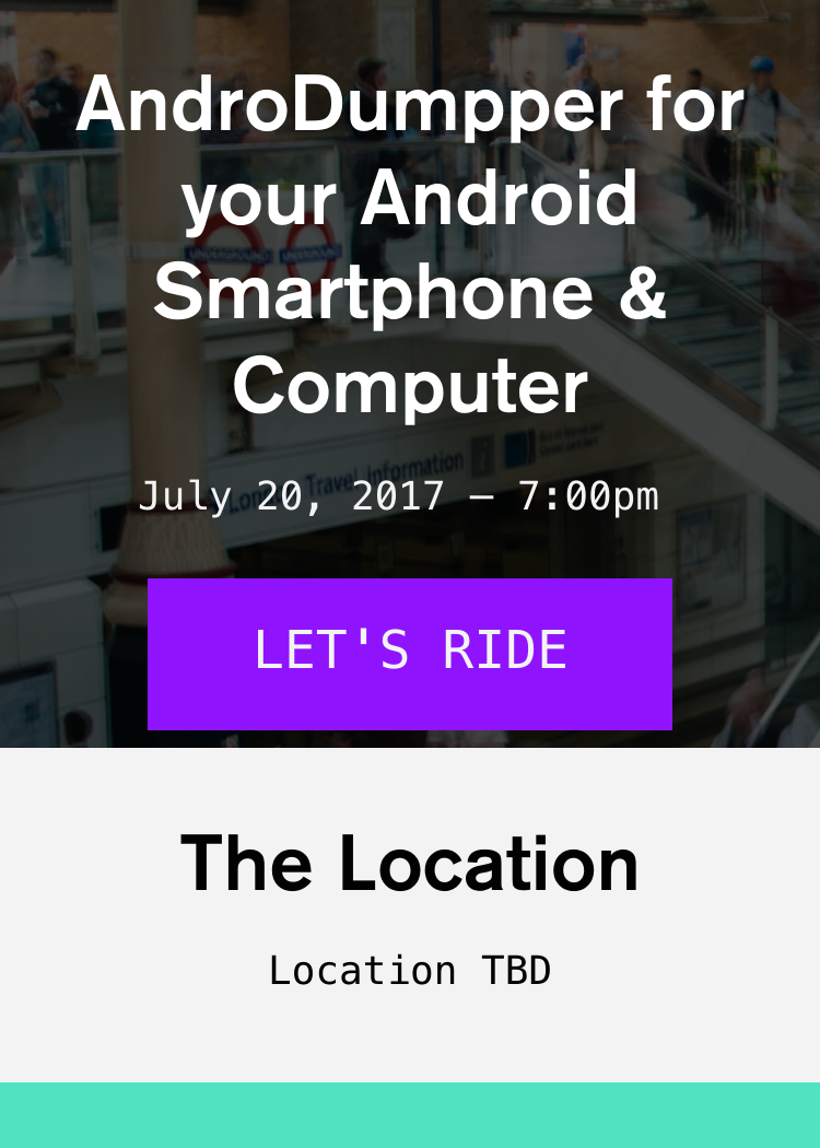 AndroDumpper For Your Android Smartphone & Computer - Splash