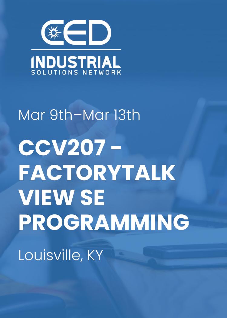 CCV207 - FactoryTalk View SE Programming