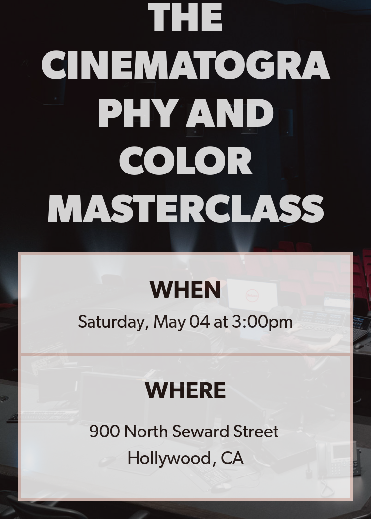 The Cinematography And Color Masterclass - Splash