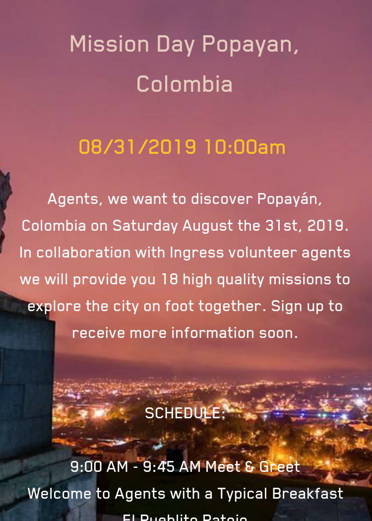 ingress events 2019 colombia