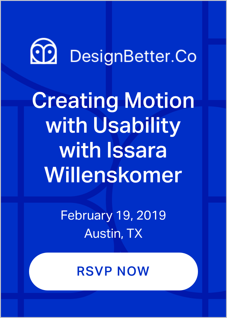 Creating Usability with Motion with Issara Willenskomer