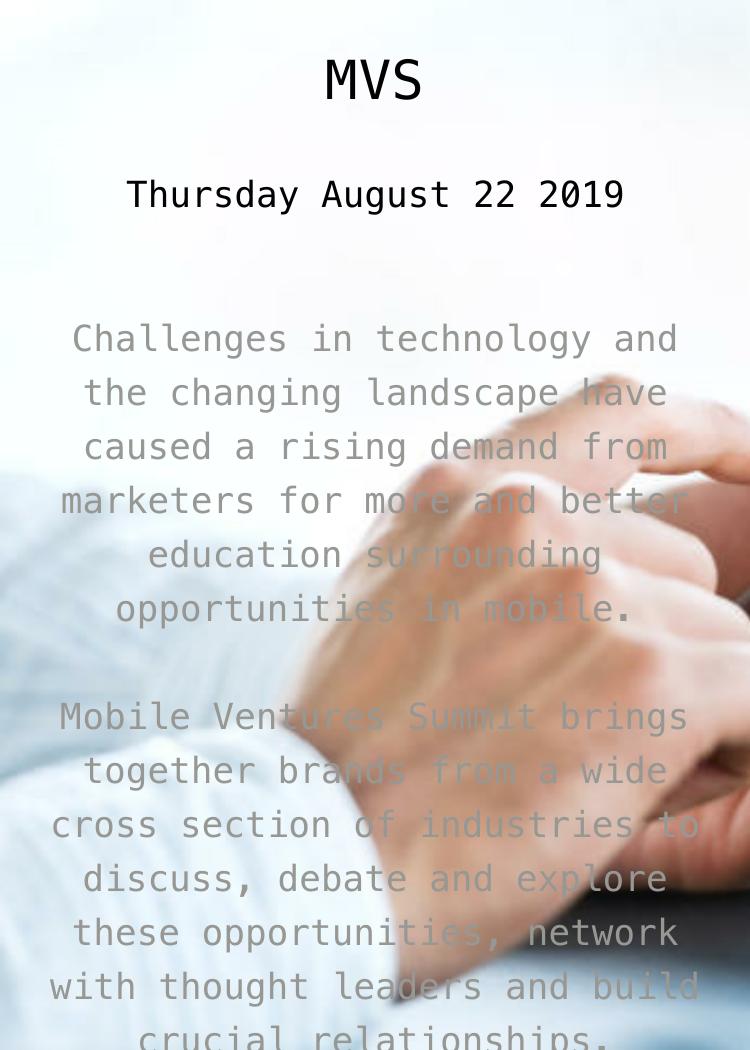 Mobile Ventures Summit