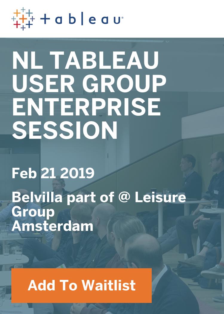 NL Tableau User Group Enterprise Session