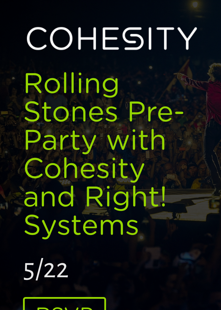 Rolling Stones Pre-Party With Cohesity And Right! Systems