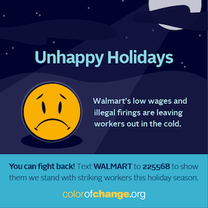 Unhappy Holidays at Walmart