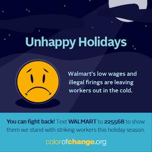 Unhappy Holidays at Walmart