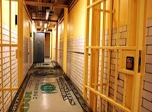 Prison Hallway with money