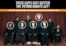By striking down Section 4, these guys just gutted the Voting Rights Act SCOTUS