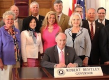 Gov. Bentley bill signing