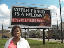 Cleveland Voter Fraud Billboard