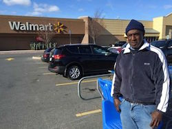 Thomas Smith standing in front of Walmart
