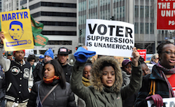 Chip-in $15 today to help us fight back against voter suppression!