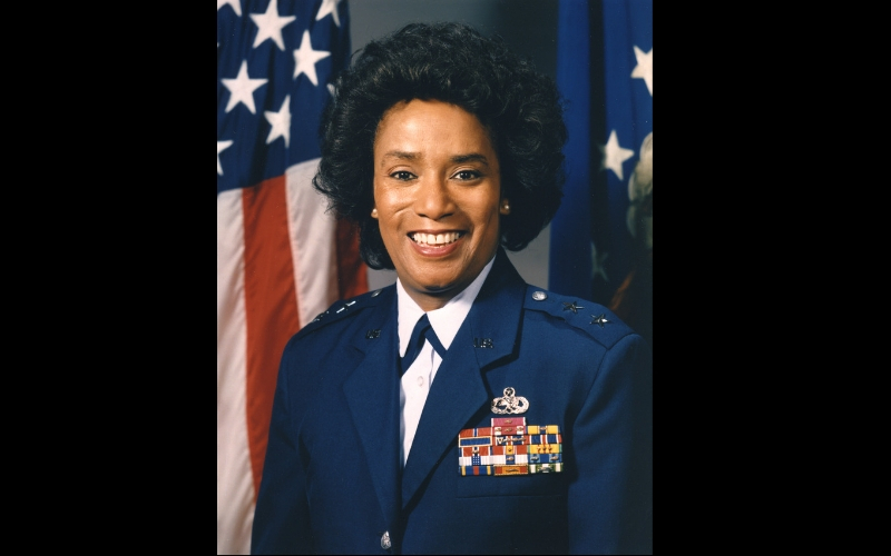 Air Force's first black female two-star general to be laid to rest in Arlington Cemetery