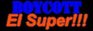 Boycott El Super Logo