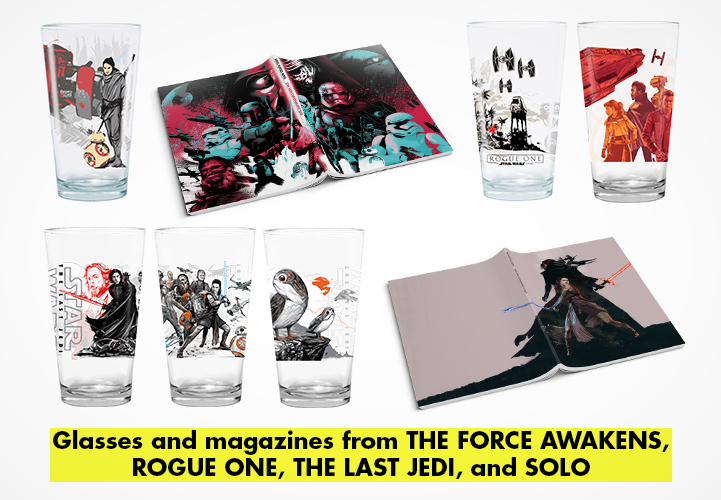 Previous merchandise for Star Wars movies