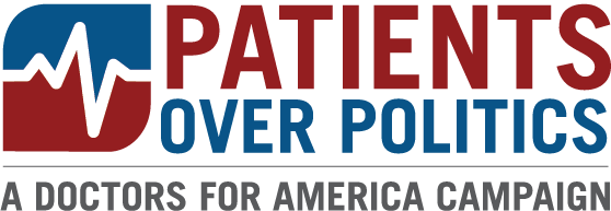 Patients Over Politics Logo
