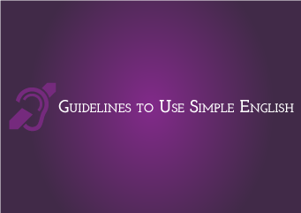 Guidelines to Use Simple English