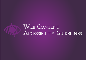 "Find out more about the accessibility standards. WCAG 2.0 "" web content accessibility guidelines"