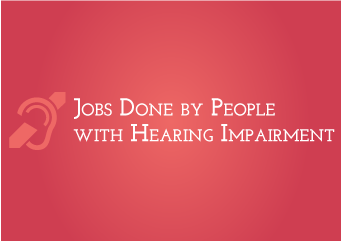 Deaf working in different jobs